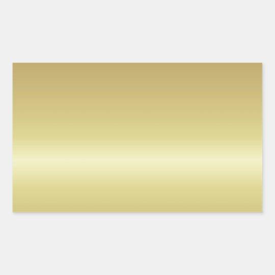 Sticker Rectangulaire gold