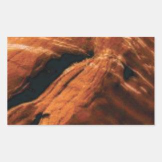 Sticker Rectangulaire gonflement de la roche rouge
