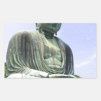 Sticker Rectangulaire Grand Bouddha
