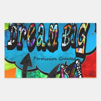 Sticker Rectangulaire Grand collage inspiré rêveur