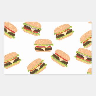 Sticker Rectangulaire Grand hamburger savoureux