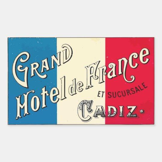 Sticker Rectangulaire Grand Hotel de France (Cadiz)