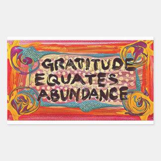 Sticker Rectangulaire Gratitude de LuckyPen