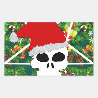 Sticker Rectangulaire grêle père Noël