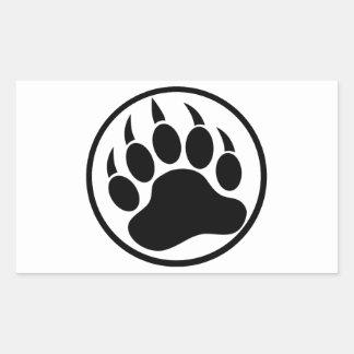 Sticker Rectangulaire Griffe d'ours noir classique à l'intérieur d'un