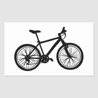 Sticker Rectangulaire Griffonnage tiré par la main simple de bicyclette