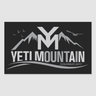 Sticker Rectangulaire Gris du Colorado 2017 de montagne de YetiMan sur