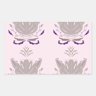 Sticker Rectangulaire Gris merveilleux de rose de lotus