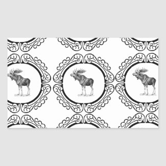Sticker Rectangulaire groupe d'orignaux de taureau