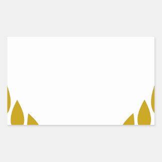 Sticker Rectangulaire Guirlande de laurier