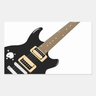 Sticker Rectangulaire Guitare électrique