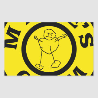 Sticker Rectangulaire Gymnase de microphones
