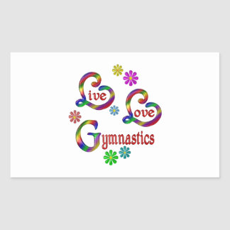 Sticker Rectangulaire Gymnastique vivante d'amour
