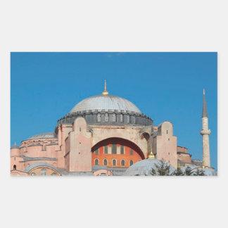 Sticker Rectangulaire Hagia Sophia Turquie