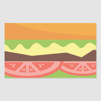 Sticker Rectangulaire Hamburger