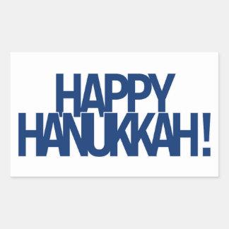 Sticker Rectangulaire Hanoukka heureux