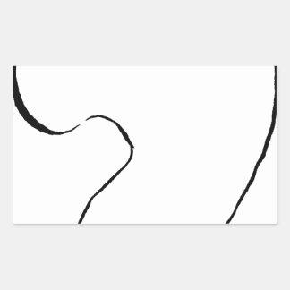 Sticker Rectangulaire Haricot