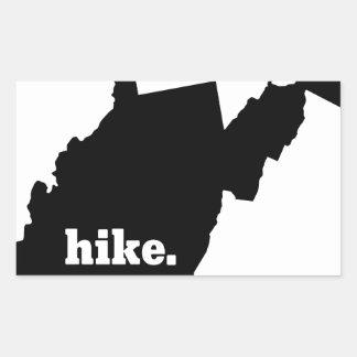 Sticker Rectangulaire Hausse la Virginie Occidentale