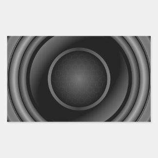 Sticker Rectangulaire Haut-parleur bruyant