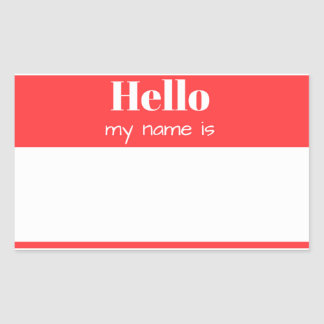 Sticker Rectangulaire Hello, my igname i…
