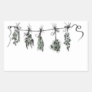 Sticker Rectangulaire Herbes