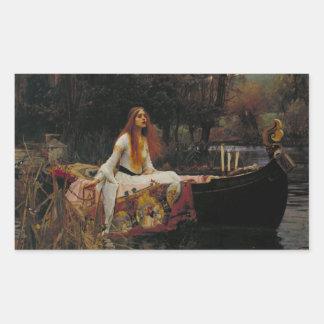 Sticker Rectangulaire Histoire de fantôme celtique de lac de Madame de