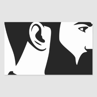 Sticker Rectangulaire Homme barbu