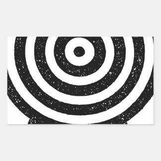 Sticker Rectangulaire Homme tenant la cible