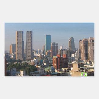 Sticker Rectangulaire Horizon de Taïwan Taichung