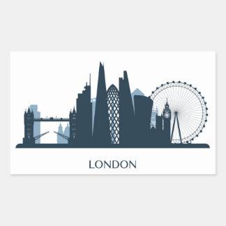 Sticker Rectangulaire Horizon de ville de Londres