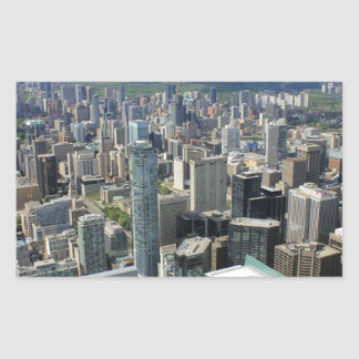 Sticker Rectangulaire Horizon de ville de Toronto
