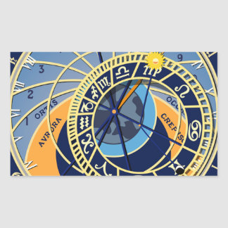 Sticker Rectangulaire Horloge astrologique de Prague