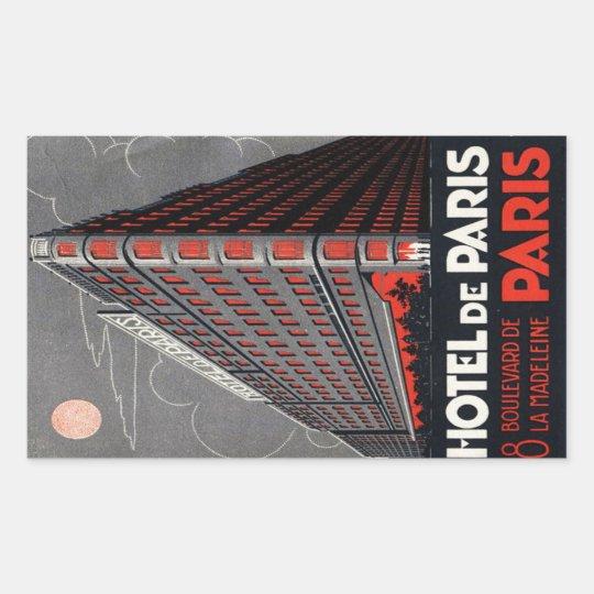 Sticker Rectangulaire Hotel de Paris (Paris)