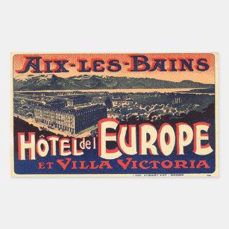 Sticker Rectangulaire Hôtel del Europe (Aix Les Bains)