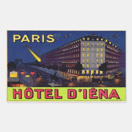 Sticker Rectangulaire Hôtel d'Iéna (Paris)