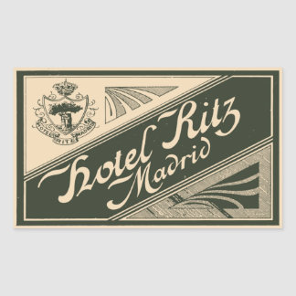 Sticker Rectangulaire Hotel Ritz (Madrid - Spain)