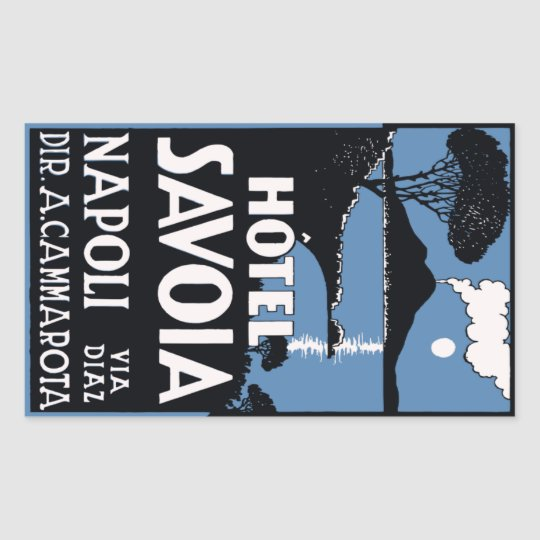 Sticker Rectangulaire Hotel Savoia (Napoli - Italy) Vector format