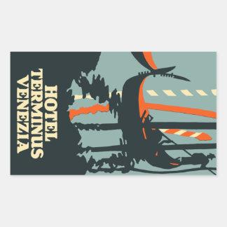 Sticker Rectangulaire Hotel Terminus (Venezia - italy) Vector format