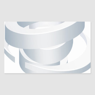 Sticker Rectangulaire Icône de la tornade 3d d'ouragan de cyclone de