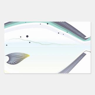 Sticker Rectangulaire Illustration de vecteur de poissons de la Floride