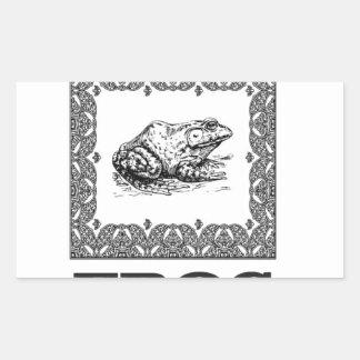Sticker Rectangulaire illustration encadrée de grenouille