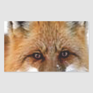 Sticker Rectangulaire image de fantaisie de renard