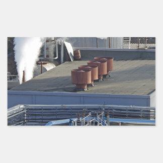 Sticker Rectangulaire Infrastructure, bâtiments et canalisation