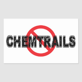 Sticker Rectangulaire Interdiction Chemtrails