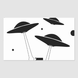 Sticker Rectangulaire Invasion d'UFO