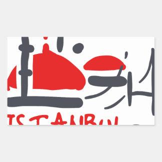 Sticker Rectangulaire Istanbul