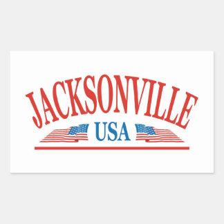 Sticker Rectangulaire Jacksonville la Floride Etats-Unis