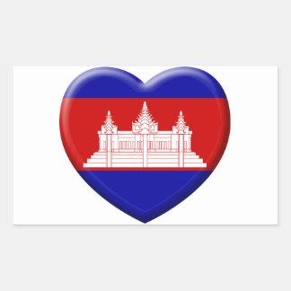 Sticker Rectangulaire j'aime le Cambodge