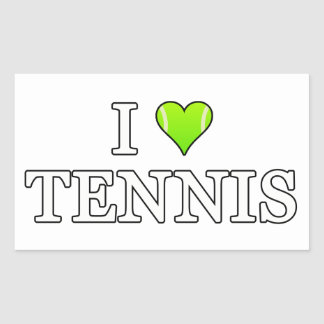 Sticker Rectangulaire J'aime le tennis