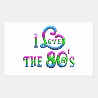 Sticker Rectangulaire J'aime les années 80